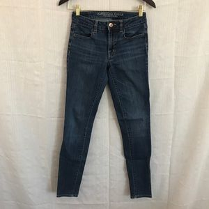 American eagle classic blue jeggings